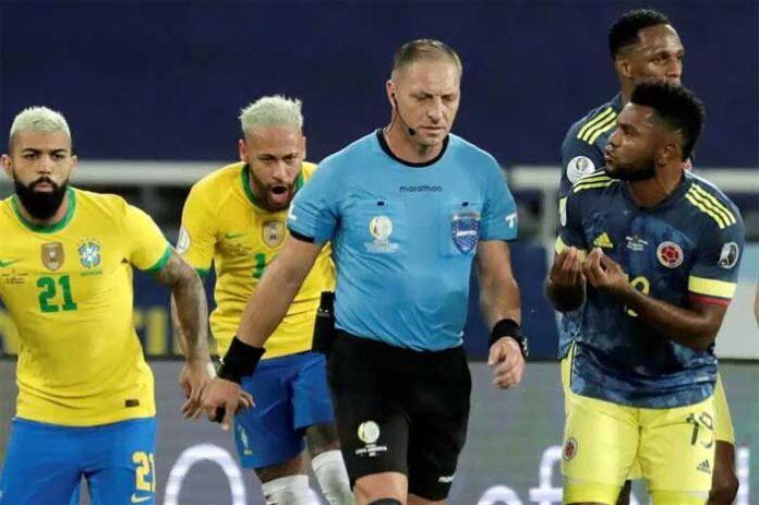 Colombia pide a Conmebol suspender a Pitana por arbitraje de juego con Brasil